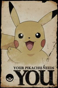 Plakat - Pikachu Needs You